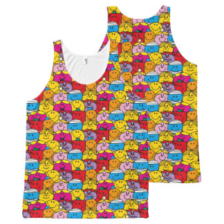 Mr Men & Little Miss | In A Crowd Pattern All-Over-Print Tank Top