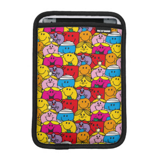 Mr Men & Little Miss   In A Crowd Pattern iPad Mini Sleeve