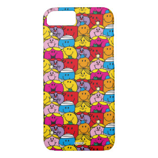 Mr Men & Little Miss | In A Crowd Pattern iPhone 8/7 Case
