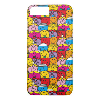 Mr Men & Little Miss | In A Crowd Pattern iPhone 8 Plus/7 Plus Case