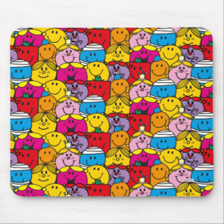 Mr Men & Little Miss | In A Crowd Pattern Mouse Pad