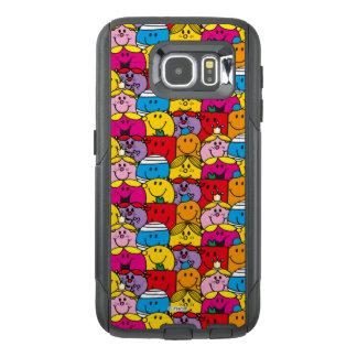 Mr Men & Little Miss   In A Crowd Pattern OtterBox Samsung Galaxy S6 Case