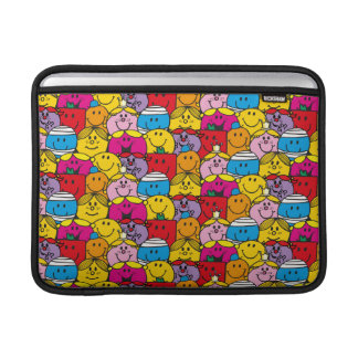 Mr Men & Little Miss | In A Crowd Pattern Sleeve For MacBook Air