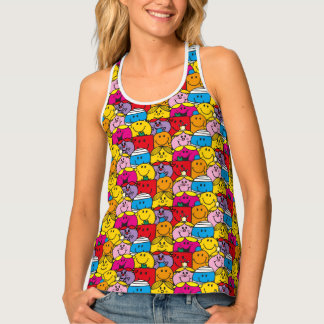 Mr Men & Little Miss | In A Crowd Pattern Tank Top