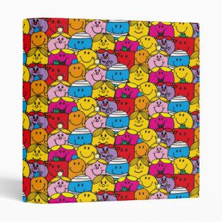 Mr Men & Little Miss | In A Crowd Pattern Vinyl Binder