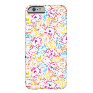 Mr Men & Little Miss | Neon Colors Pattern Barely There iPhone 6 Case