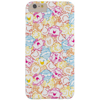 Mr Men & Little Miss | Neon Colors Pattern Barely There iPhone 6 Plus Case