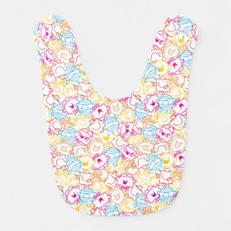 Mr Men & Little Miss | Neon Colors Pattern Bib