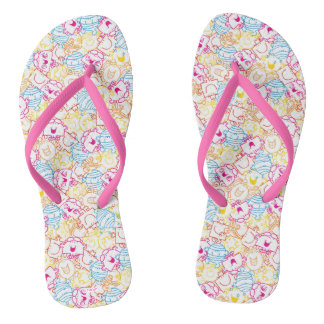 Mr Men & Little Miss | Neon Colors Pattern Flip Flops