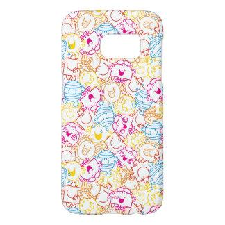 Mr Men & Little Miss | Neon Colors Pattern Samsung Galaxy S7 Case