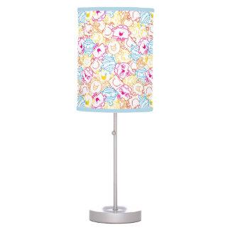 Mr Men & Little Miss | Neon Colors Pattern Table Lamp