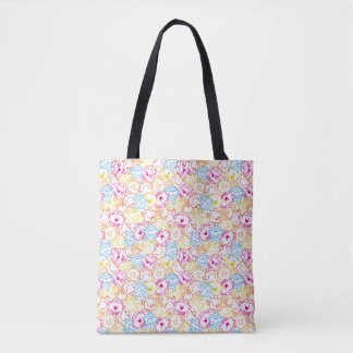 Mr Men & Little Miss | Neon Colors Pattern Tote Bag