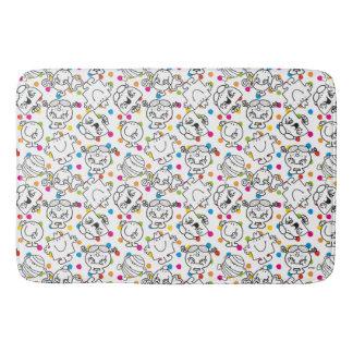 Mr Men & Little Miss   Rainbow Polka Dots Pattern Bath Mat