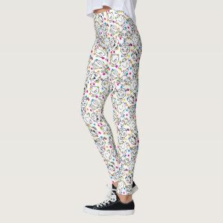 Mr Men & Little Miss | Rainbow Polka Dots Pattern Leggings