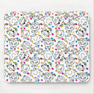 Mr Men & Little Miss | Rainbow Polka Dots Pattern Mouse Pad
