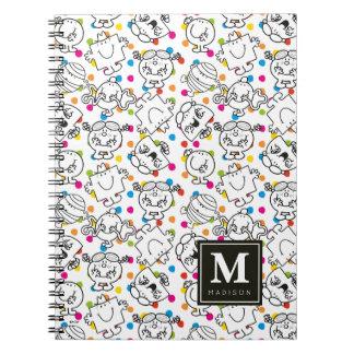 Mr Men & Little Miss | Rainbow Polka Dots Pattern Notebook