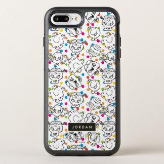 Mr Men & Little Miss | Rainbow Polka Dots Pattern OtterBox Symmetry iPhone 8 Plus/7 Plus Case