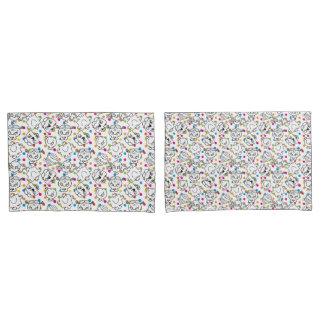 Mr Men & Little Miss | Rainbow Polka Dots Pattern Pillowcase