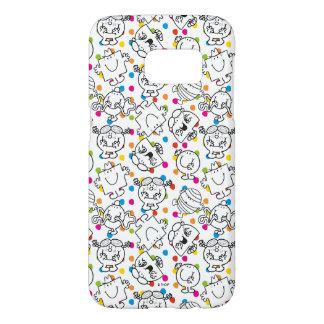 Mr Men & Little Miss | Rainbow Polka Dots Pattern Samsung Galaxy S7 Case