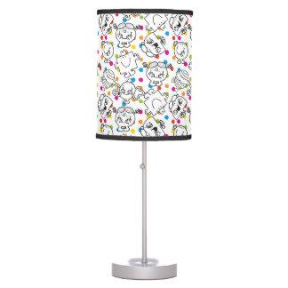 Mr Men & Little Miss | Rainbow Polka Dots Pattern Table Lamp