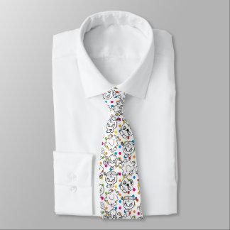Mr Men & Little Miss   Rainbow Polka Dots Pattern Tie