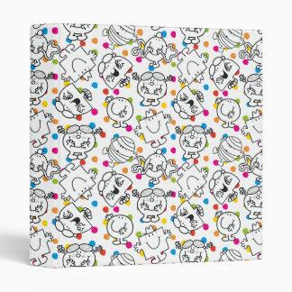 Mr Men & Little Miss | Rainbow Polka Dots Pattern Vinyl Binders