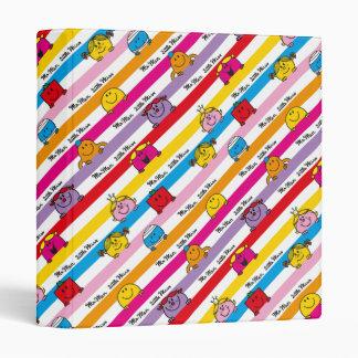 Mr Men & Little Miss | Rainbow Stripes Pattern Binder