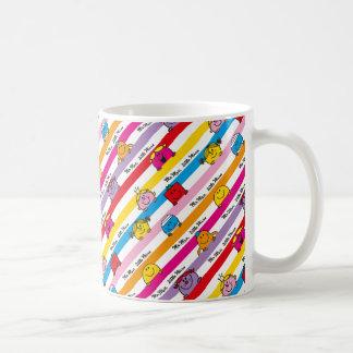Mr Men & Little Miss | Rainbow Stripes Pattern Coffee Mug