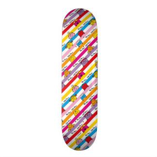 Mr Men & Little Miss | Rainbow Stripes Pattern Custom Skate Board