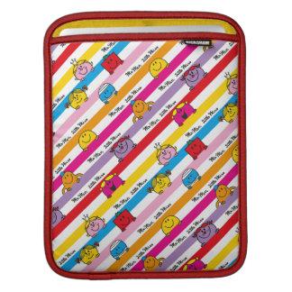 Mr Men & Little Miss   Rainbow Stripes Pattern iPad Sleeve