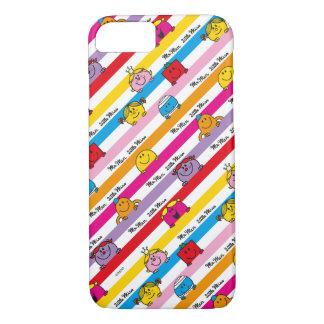 Mr Men & Little Miss   Rainbow Stripes Pattern iPhone 7 Case
