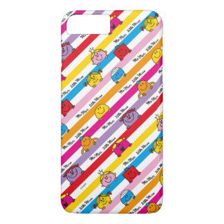 Mr Men & Little Miss | Rainbow Stripes Pattern iPhone 8 Plus/7 Plus Case