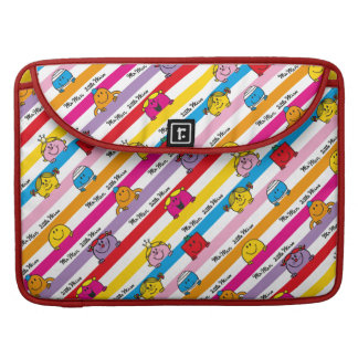 Mr Men & Little Miss | Rainbow Stripes Pattern MacBook Pro Sleeves