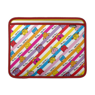 Mr Men & Little Miss | Rainbow Stripes Pattern MacBook Sleeve