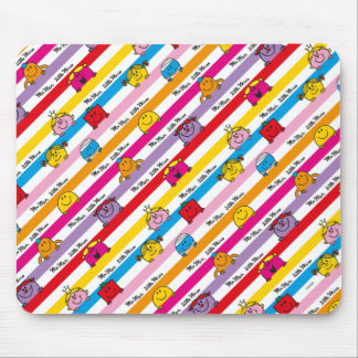 Mr Men & Little Miss | Rainbow Stripes Pattern Mouse Pad