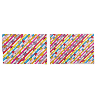 Mr Men & Little Miss | Rainbow Stripes Pattern Pillowcase