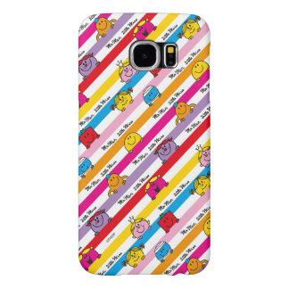 Mr Men & Little Miss | Rainbow Stripes Pattern Samsung Galaxy S6 Cases