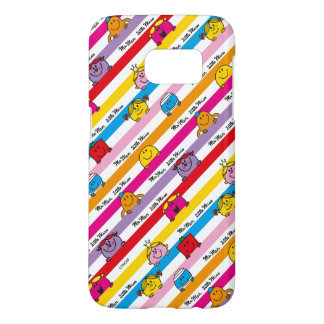 Mr Men & Little Miss | Rainbow Stripes Pattern Samsung Galaxy S7 Case