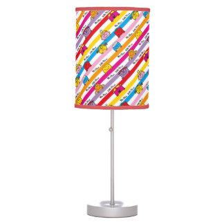Mr Men & Little Miss | Rainbow Stripes Pattern Table Lamp