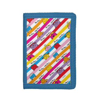 Mr Men & Little Miss | Rainbow Stripes Pattern Tri-fold Wallets