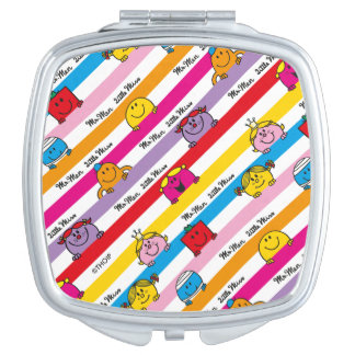 Mr Men & Little Miss | Rainbow Stripes Pattern Vanity Mirror