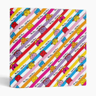 Mr Men & Little Miss | Rainbow Stripes Pattern Vinyl Binder