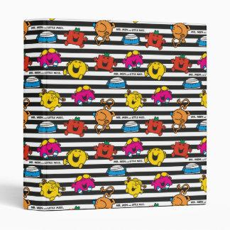 Mr Men & Little Miss | Stripes Pattern 3 Ring Binder