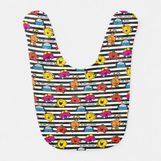 Mr Men & Little Miss | Stripes Pattern Bib
