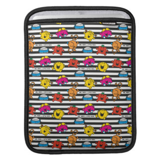 Mr Men & Little Miss   Stripes Pattern iPad Sleeve