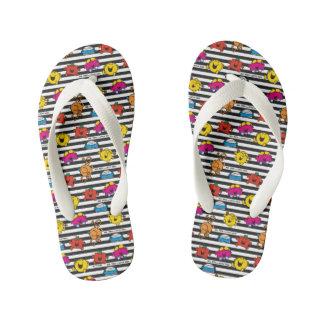 Mr Men & Little Miss | Stripes Pattern Kid's Flip Flops