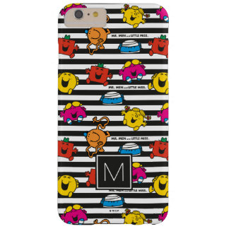 Mr Men & Little Miss | Stripes Pattern | Monogram Barely There iPhone 6 Plus Case
