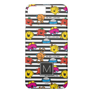 Mr Men & Little Miss | Stripes Pattern | Monogram iPhone 8 Plus/7 Plus Case