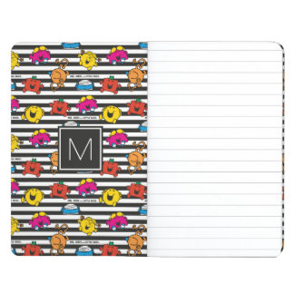 Mr Men & Little Miss | Stripes Pattern | Monogram Journals