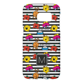 Mr Men & Little Miss | Stripes Pattern | Monogram Samsung Galaxy S7 Case